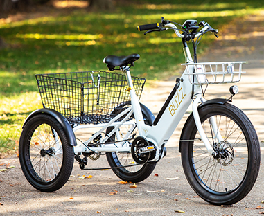 Buzz electric tricycle in white